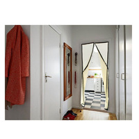Hands-free Magic Mesh Magnetic Screen Door Curtain Anti-Mosquito/Bug Beige