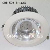 8inch 50W COB brigelux chip LED down light ,lobby light . hotel lighting .