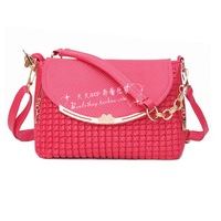 2014 dot plaid one shoulder cross-body handbag women's bag