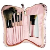 Make-up cosmetic bag 5 piece set cosmetic brush taping mirror eye shadow blush foundation brush