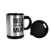 350ml Stainless Steel Automatic Electric Self Stirring Mug Coffee Mixing Drinking Cup