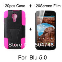 Combo Hybrid 2 into 1 Hybrid PC Combo & Silicon cover Case For Blu Studio 5.0 (120pcs Case+120pcs Scren Film)DHL EMS Shipping