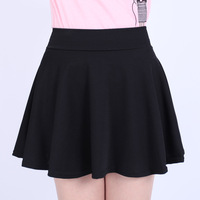 2014 women Clothing spring basic bust skirt short skirt female high waist pleated spring and autumn plus size