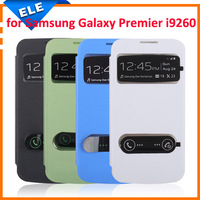 1PC High Quality Flip Leather Case Battery Back Cover for Samsung Galaxy Premier i9260
