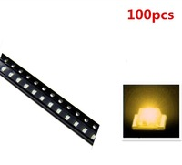 100pcs 1206 SMD SMT Super Bright Yellow LED Lamp Light RoHS Good Quality