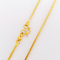 vacuum plated 24K gold necklace lizard chain Wholesale New arrival fashion Jewelry Free Shipping!LB001