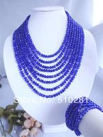 No-125 Fashion African Wedding Beads Crystal jewelry set