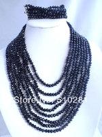 No-122 Fashion African Wedding Beads Crystal jewelry set
