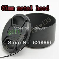 100% GUARANTEE 67MM METAL Lens Hood & Cap for Canon T4i T3i 7D 50D 60D 18-135mm 17-85mm Lens