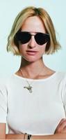 10pcs/lot New Brand Vintage/Retro 80's Giaguaro Caffelatte Women/Female Round Shape Withe Meal stripe Sunglasses 52105