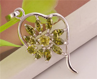 wholesale 3 pcs Cubic ZIRCONIA STERLING SILVER CZ pendants beautiful pendant