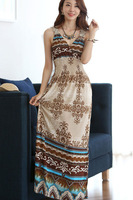 Elegant Wrapped Neck Summer Maxi Dress LC6275 high street 2014
