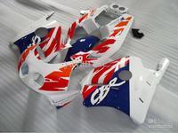 Wholesale - White Red Blue Fairings for Honda CBR250RR 1991-1998 CBR 250RR MC22 91 92 93 94 95 96 97 98 CBR250R 91-98