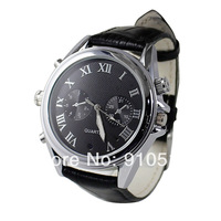 V28 Leather Belt Watch built-in 8GB mini Camera Video Camcorder DV DVR Free Shipping