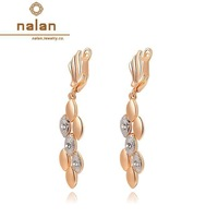 Nalan Earings fashion 2014 free shipping Genuine Austrian crystal jewelry wholesale earrings gilded gilded E2020008350
