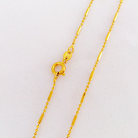 vacuum plated 24K gold necklace heart  chain Wholesale New arrival fashion Jewelry Free Shipping!LB002