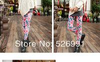 Free Shipping 60pcs/lot New Arrive Spring Autumn Winter Both Sides M Word Fashion leggings Women Leggings Tie Dye Leggings