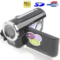 3.0 Mega Pixels Digital Video Camera Camcorder with 1.8 inch TFT LCD Screen 47.74 Support TV Out Black (DV136)