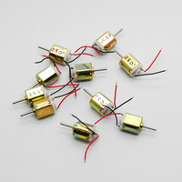 10pc 6.5x8mm DC micro Motor 1.5V 0.005A 20000RMP High speed with cable mini motor free shippnig