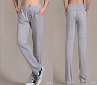 New women/lady cotton harem pants elastic waist big size skinny sweatpants joggings sports baggy buttons deco high quality soft