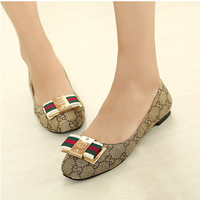 2014 New Fashion Korean Explosion Models Big Snake Buckle Shoes Flat Shoes *288