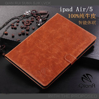Luxury Leather Case For iPad Air Flip Thin Design Stand Fuction For iPad 5 Sleep Wake Smart Cover case PB035