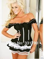 Free Shipping 701635 Lingerie lace lovely princess maid sexy suit uniform temptation wholesale