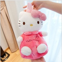 Free Shipping  Pink Hello Kitty Plush  backpack  Kindergarten babys school bags backpack shoulder bag baby soft plush Toy Retail
