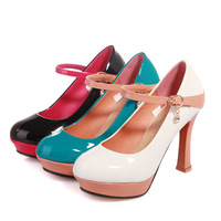 New Fashion Patent Leather Mary Jane Strap Platform High Heel Pump Shoes