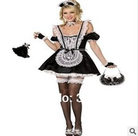 Free Shipping 0652 maid outfit sexy lingerie sexy women's open temptation maid maid take game uniform specials wholesale