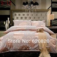New Design bedding set queen king size 100%Cotton 4pcs floral pattern comforter duvet cover bed sheet bedclothes home textile