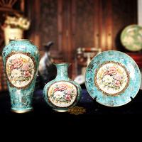 Fashion home decoration ceramic vase piece set decoration crafts vase