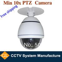 free shipping 10x mini high speed dome camera,600TVL,high speed dome ptz camera