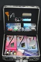 New 2014 Professional Korea Eyelash Grafting  False Eyelashes Extension Full Set Lashes and Eyelash Glue Makeup Kits with Case
