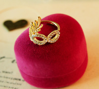 G138 Free Shipping Wholesales New Design 2014 Fashion Gold Mask Finger Ring Jewelry Accessories