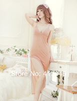new 2014 hot sale Female Sexy Temptation women dress V-neck Bathrobe Rayon Silk Sleepwear ladies Pajamas woman soft lingerie