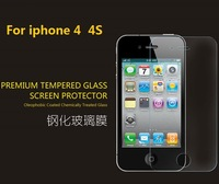 10Pcs Premium Tempered Glass Screen Protectors For iphone 4 4S Protective Films Free Shipping