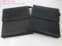 2014 New Fashion Men Bags High Quality Men Messenger Bags ,Men Handbags Business Bag ,Genuine Leather Men Bags ,Black /Brown B55