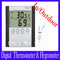 Free shipping Digital Indoor Outdoor Thermometer with Hygrometer HC-520,Digital In/Outdoor Thermometer & Hygrometer.2pcs/lot
