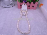 Wholesale - New Fashion Natural Freshwater Pearl Bridal Jewelry Set, Necklace, Bracelet Earring Sets, Crystal Pearl Suits