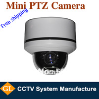 free shipping security camera high speed ir dome camera,700tvl,10X Optical zoom,SONY CCD,mini ptz cctv cameras