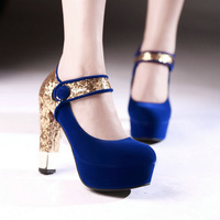 2014 Sexy Mary Jane High Heels Platform Womens Pump Shoes