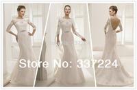 Mermaid Lace Applique Bridal Wedding Dress Bridesmaid Party Dress