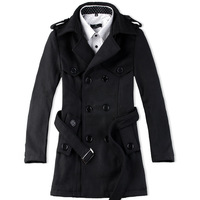 Janigor card 2014 woolen overcoat male medium-long slim