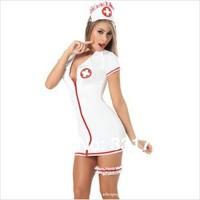 Free Shipping 1661 new lingerie sexy nurse pajamas suit the game uniform skirt temptation wholesale