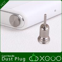 Thumb screws headset plug For huawei p6 earphones dust plug metal for HUAWEI p6 stud earring card needle