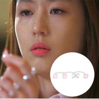 SBS Korean TV drama hot creative new fashion K pop alloy rhinestone ring in TV program My Love From The Star Cheon Song-Yi