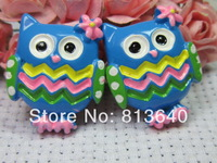 Free Shipping 50 PCS/Lots DIY Very Hot and Kawaii   Resin cabochons For  phones and photo frames DIY  Resin owl
