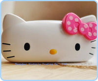 6PCS Sweet Kawaii Bowknot Hello Kitty Delicate Eye Glasses BOX Case Container Holder Organizer Eyewear Box Case