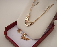 14K rose gold necklace jewelry batch heart  clavicular short necklace